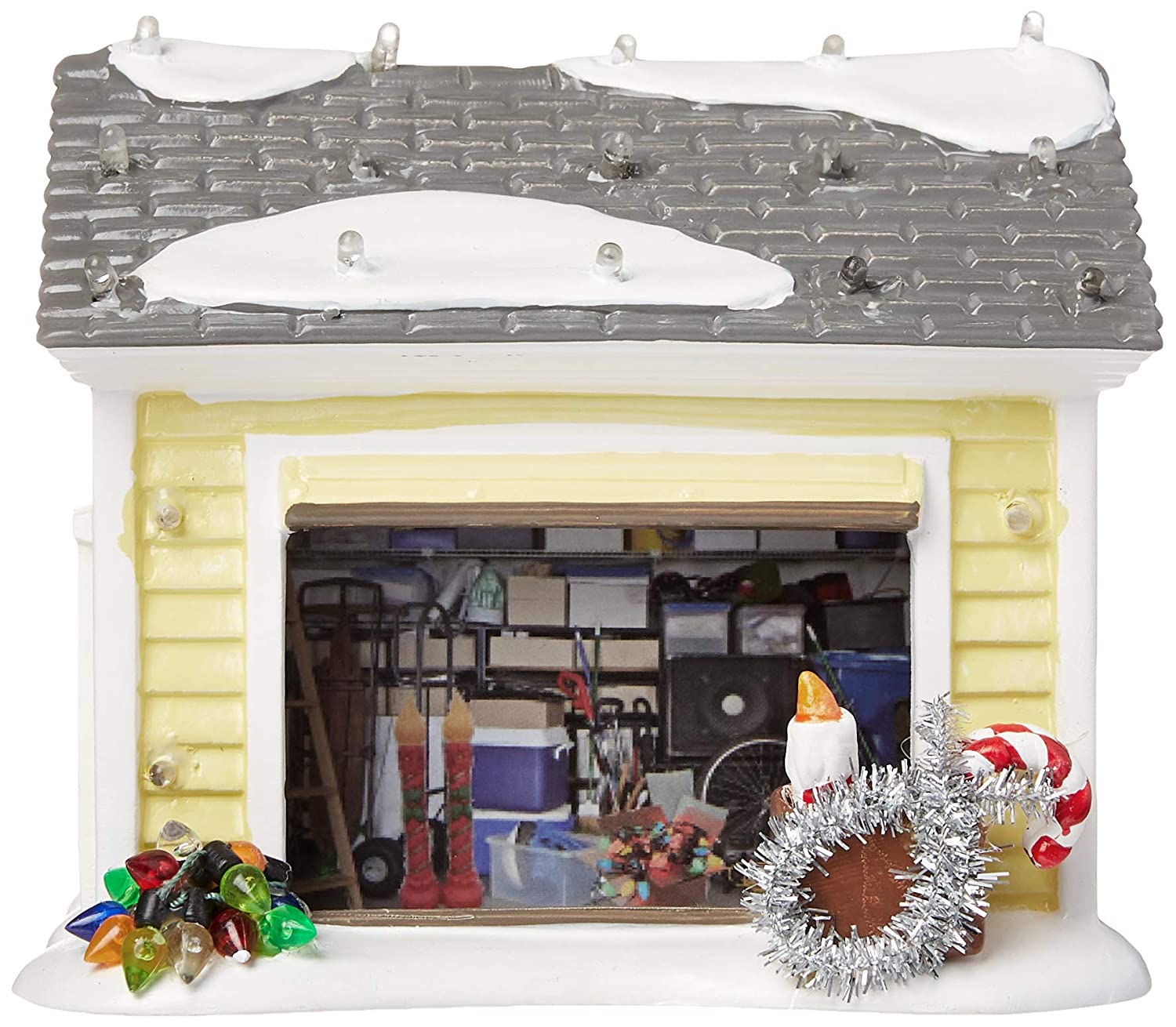 Department 56 4056686 Snow Village Christmas Vacation die Griswold Holiday Garage Lit Building, Multicolor