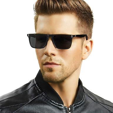 Carfia Retro Gafas de Sol Hombre Polarizadas UV400 Protección para Outdoors