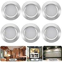 6 PCS Interior Lights Kit,12V LED Interior Spot Light Downlight Caravan Lamp,Dimmable LED Interior Light Ceiling Lamp…