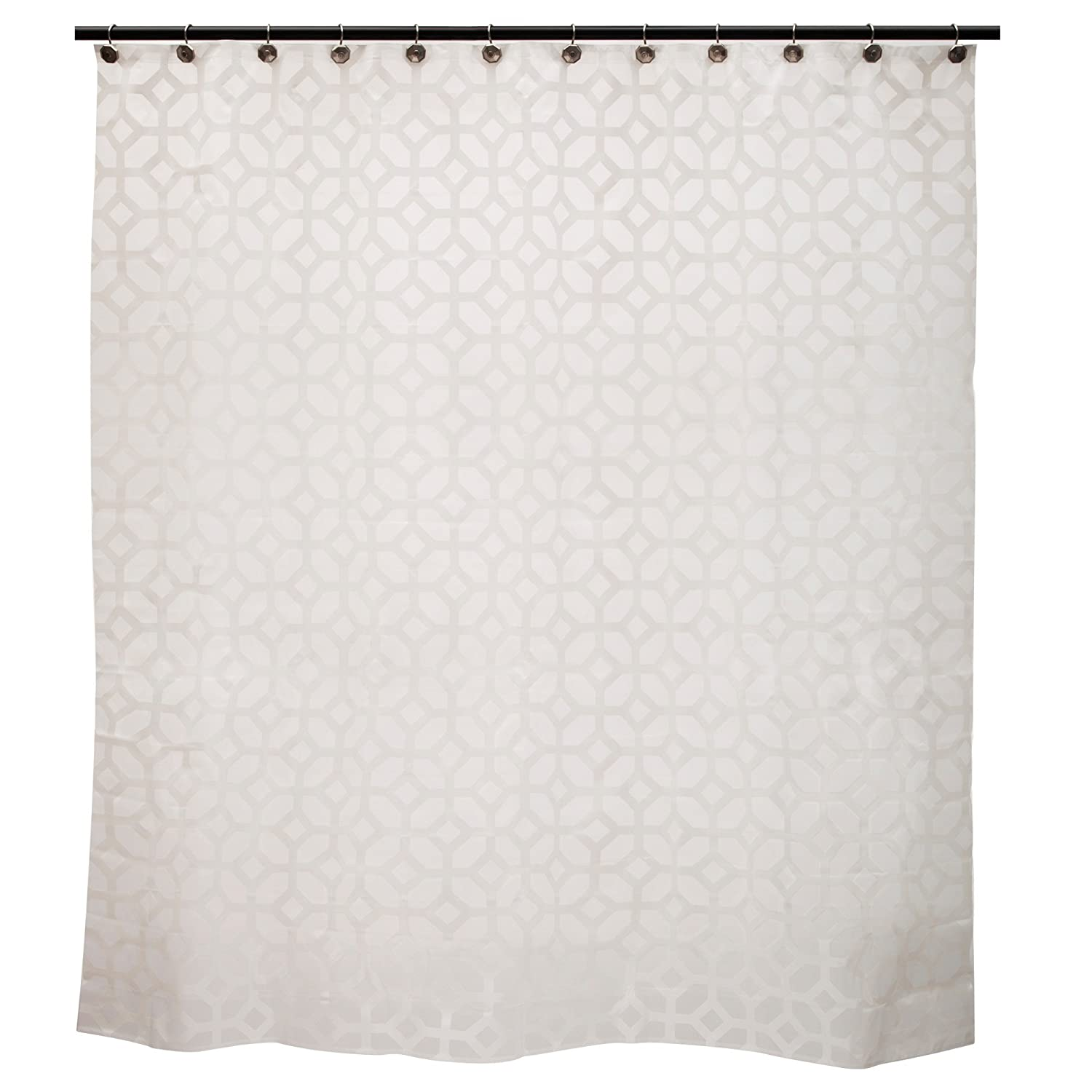 Kenney Geometric Frost Shower Curtain Liner KN61267