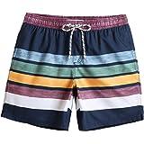 "MaaMgic 7"" Swim Shorts Mens Quick Dry Swim Trunks with Mesh Lining Teen Funny Print Swimwear Swimsuit"