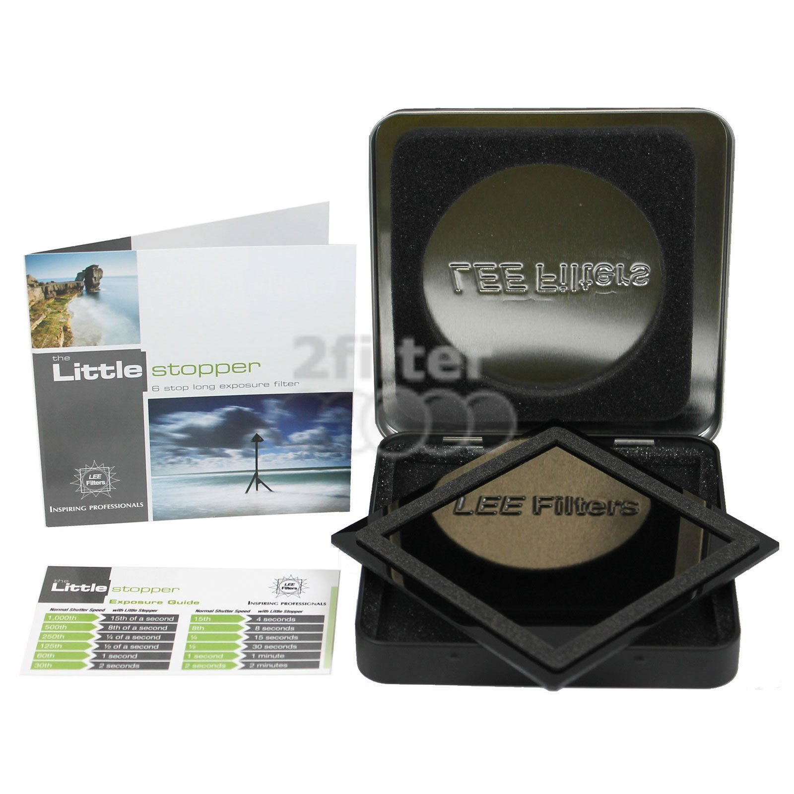 LEE Filters 100mm Big Stopper and 100mm Little Stopper Filters (4x4) with 2filter Cleaning Kit by Lee Filters