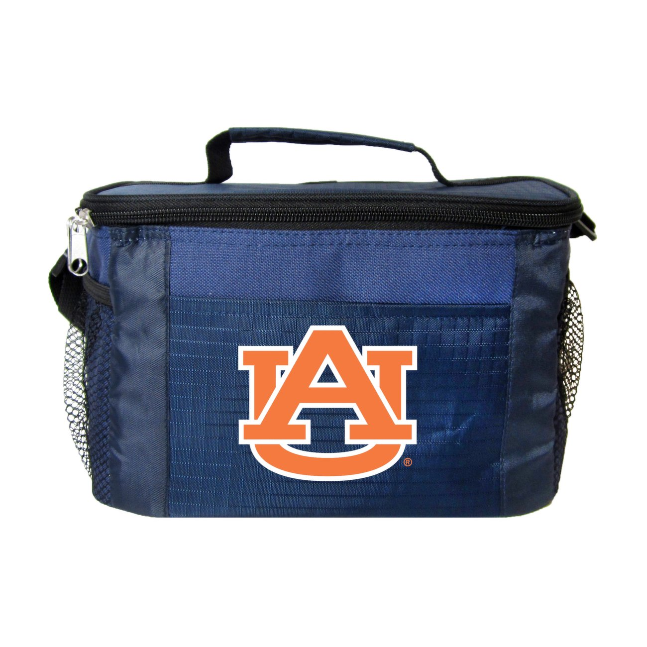 NCAA Auburn Tigers Insulated Lunch Cooler Bag with Zipper Closure, Black