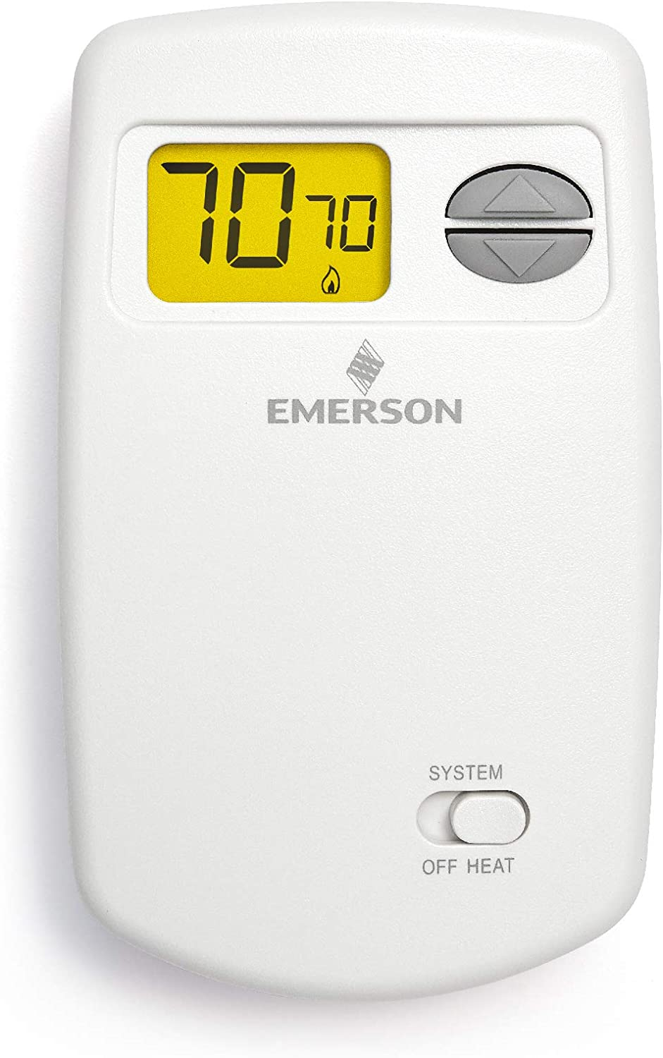 Emerson 1E78-140 Non-Programmable Heat Only Thermostat for Single-Stage Systems