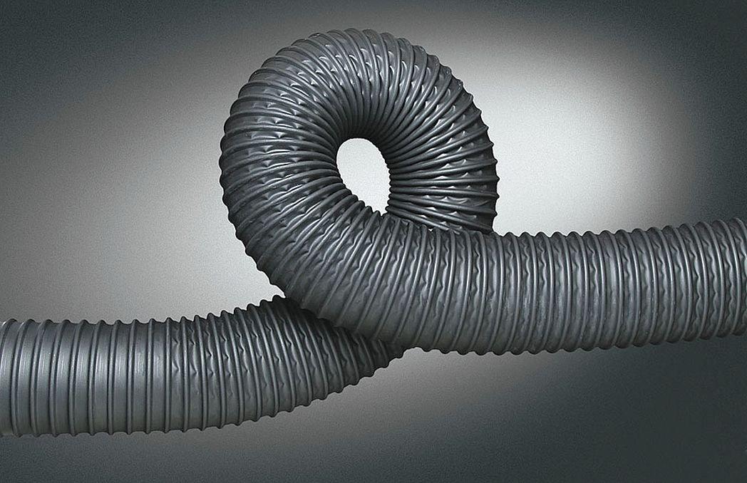 Hi-Tech Duravent 210501001225-10 Polypropylene Industrial Ducting Hose 25 Length Black 25/' Length 12 ID 12 ID