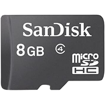 SanDisk SDSDQM-008G-B35 Tarjeta de Memoria microSD de 8 GB, Negro