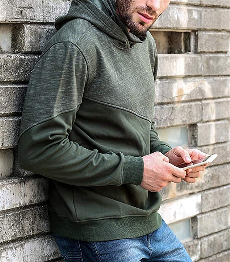 YULEgowinner Mens Contrast Hoodie Fleece Slim Casual Pullover Sweatshirts