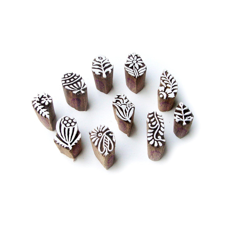Royal Kraft Foglia e Assortito Decorativo Disegno Legno Blocco Timbri (Set di 10) Htag1030