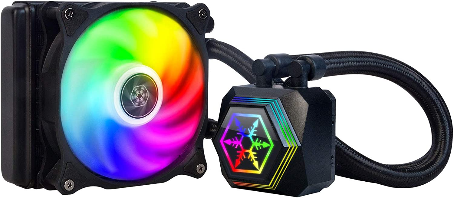 SilverStone Technology SST-PF120-ARGB Permafrost 120mm All in One Multi-Chamber Addressable RGB CPU Liquid Cooler Supports Intel/AMD