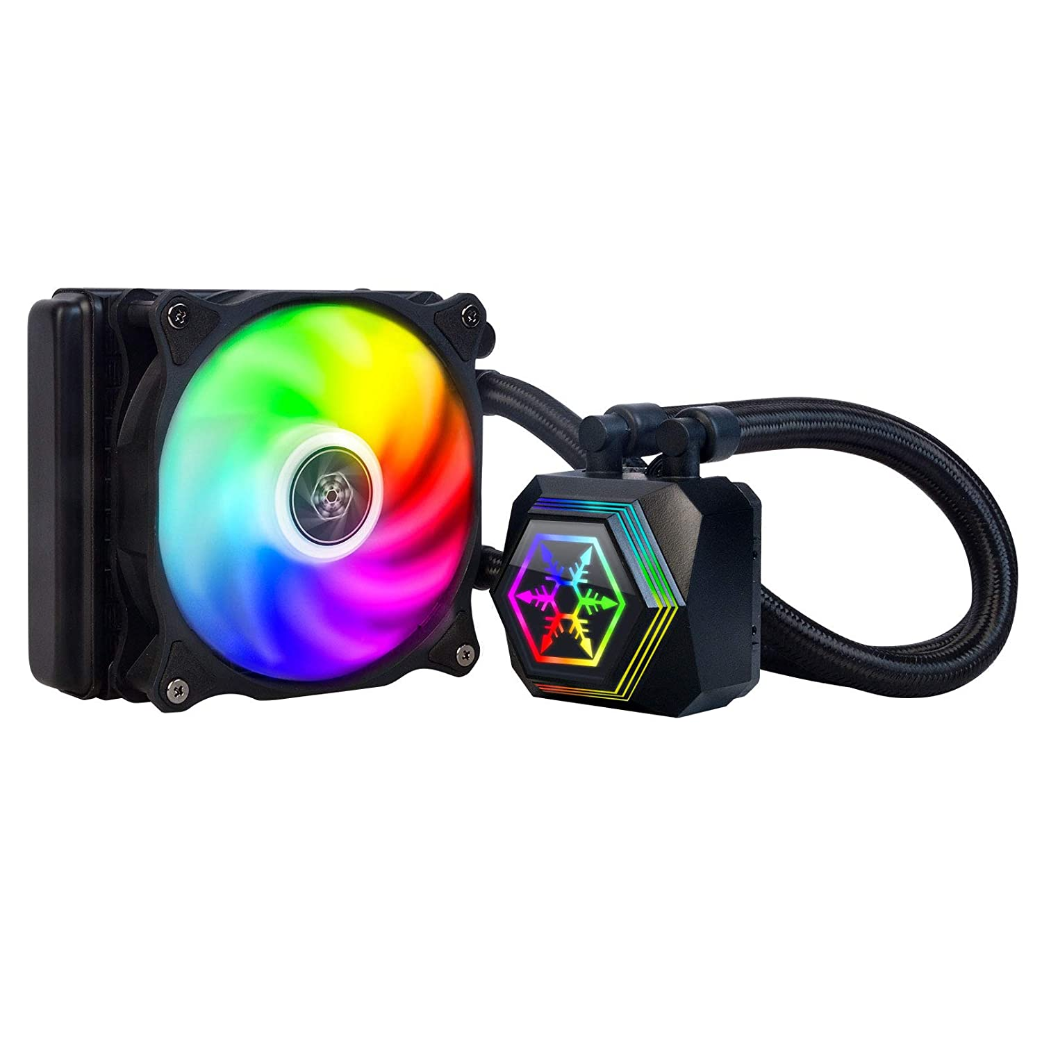 SilverStone Technology PF120-ARGB Permafrost 120mm All in One Multi-Chamber Addressable RGB CPU Liquid Cooler Supports Intel/AMD