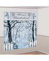 Amscan International Decoration Kit Winter wonderland