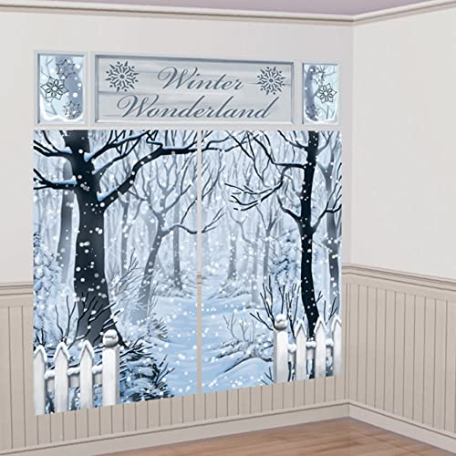 amscan international 670699 scene setter winter wonderland decoration set