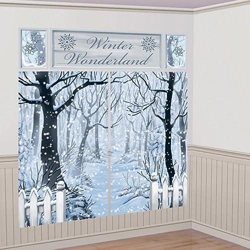 amscan international 670699 scene setter winter wonderland decoration set