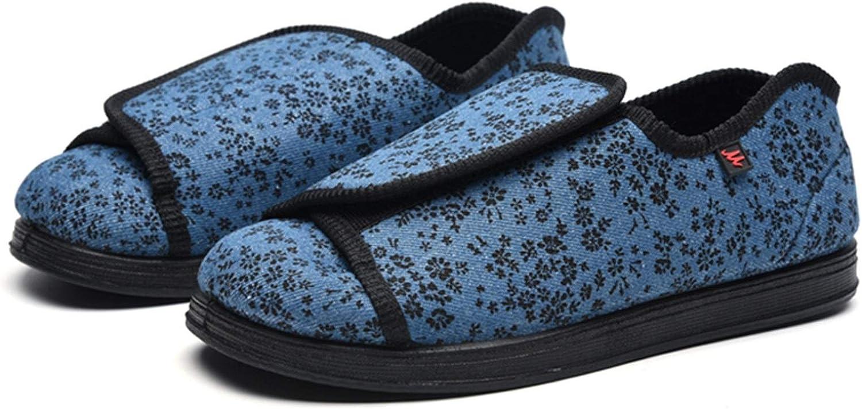 Los zapatos ortopédicos for las mujeres se abrieron los zapatillas obesos guía ancianos gran tratamiento elevable Hallux Valgus lesión en la cirugía de gasa edema diabético deformado pulgar calzado