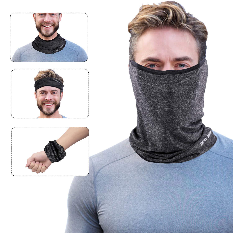 Riding Running Headwear for UV Wind Dust Ice Silk Breathable Balaclava Versatile Face Mask Neck Gaiter