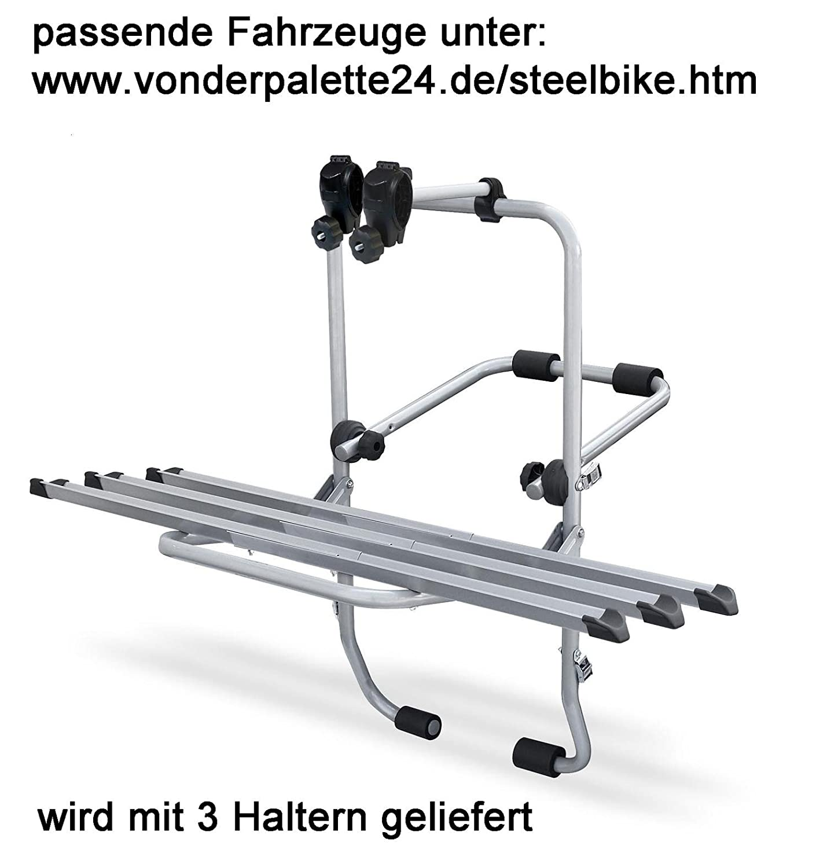 Steelbike Fahrrad Heckträger Audi A4 ab 2005 für 3 Räder Fahrradträger