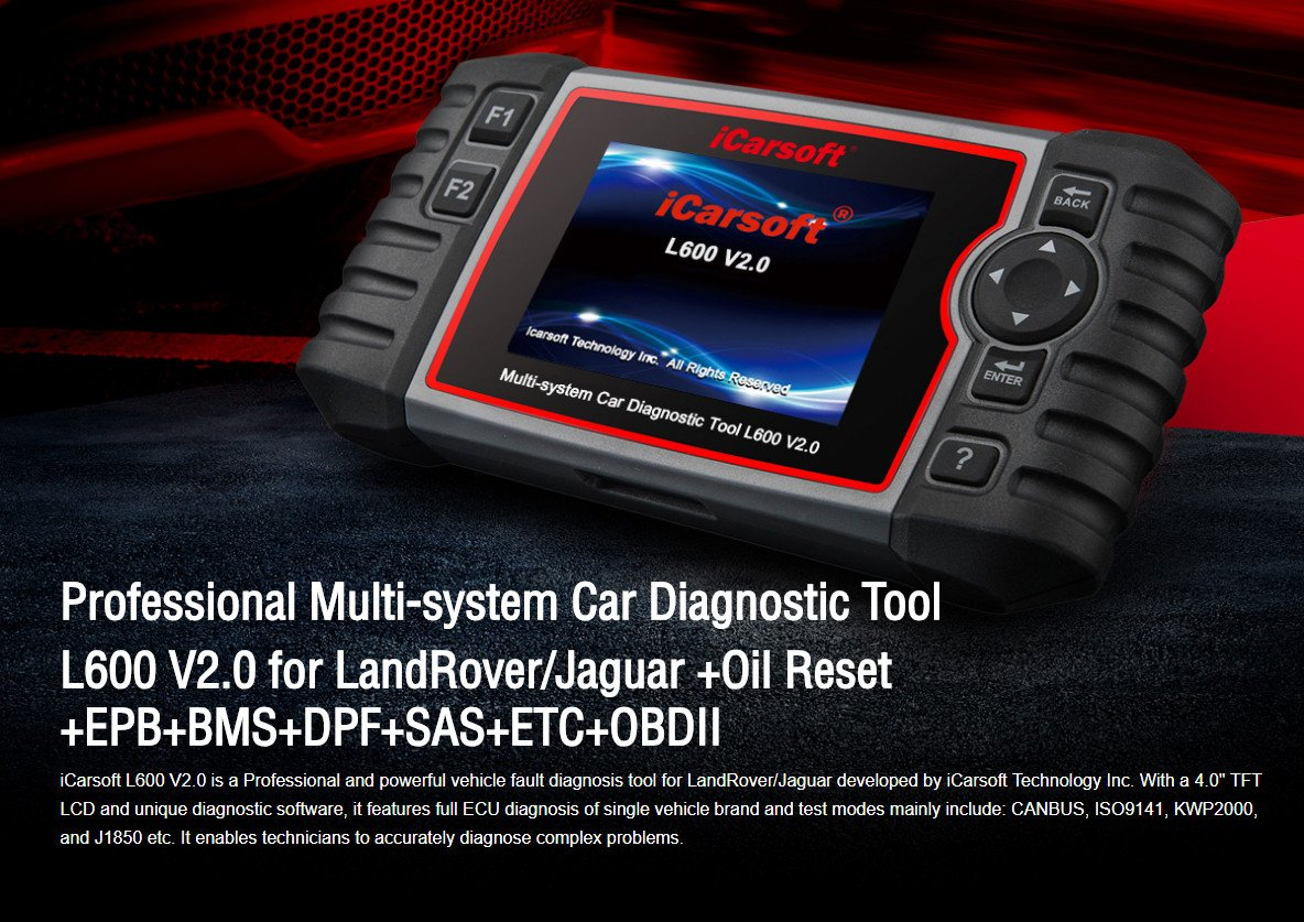 iCarsoft Auto Diagnostic Scanner L600 V2.0 for Landrover and Jaguar with ABS Scan,Oil Reset EPB etc by iCarsoft (Image #1)
