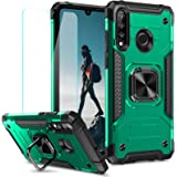 MMHUO Huawei P30 Lite Case, Durable TPU & PC Shockproof Armor Protective Cover for Huawei P30 Lite Case with Screen Protector