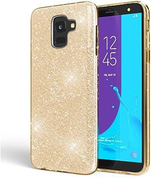 NALIA Purpurina Funda Compatible con Samsung Galaxy J6 2018, Carcasa Protectora Movil Silicona Ultra-Fina Glitter Gel Bumper, Lentejuela Cubierta Delgado Cover Slim Phone Case, Color:Gold Oro: Amazon.es: Electrónica