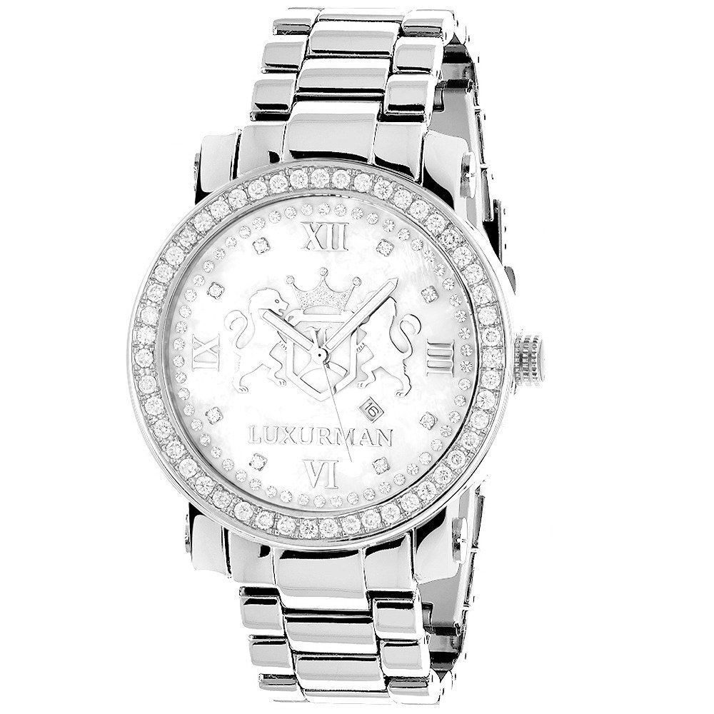 11085dade17 Amazon.com  Large Mens Diamond Watches  Luxurman Phantom VS Diamonds Watch  4ct  Watches