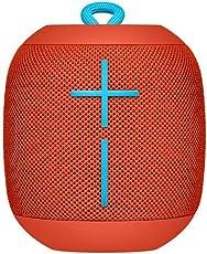 Logitech UE Wonderboom - Bocina inalámbrica, Bluetooth, resiste Golpes, Impermeable, con Conexión por Partida Doble, Color Rojo Profundo