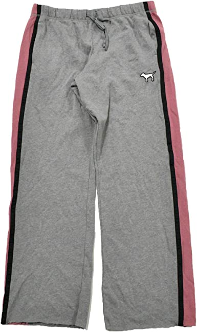 Victoria S Secret Pink Sweatpants Boyfriend Fit With Side Stripe Xs Gray Pink At Amazon Women S Clothing Store