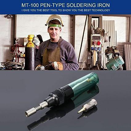 1 Unids Electrónica DIY MT-100 Herramienta Pluma Con Forma Eléctrica Soldadora de Gas Pistola