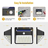 Solar Lights Outdoor, Upgraded 82 LED Security