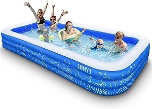 JONYJ Inflatable Pool, 150'' x 72'' x 22