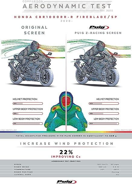 Bulle Racing pour Honda CBR 1000 RR-R Fireblade//SP 2020 fum/é fonc/é Puig 20313f