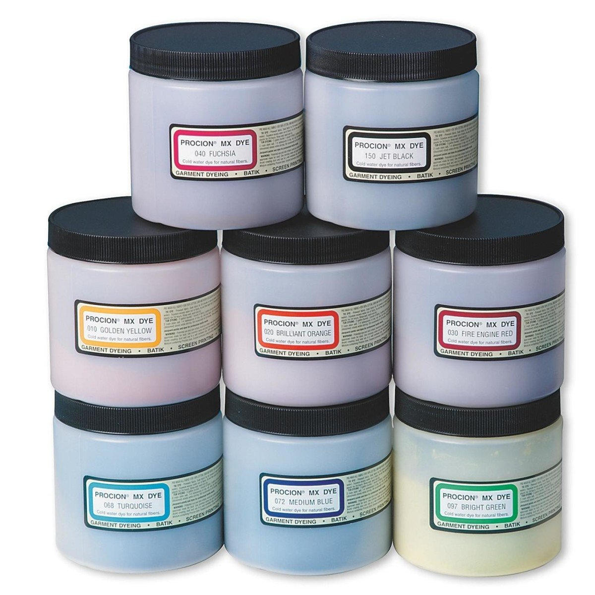Procion PMX208S Cold Water Dye, Assortment (Pack of 8)