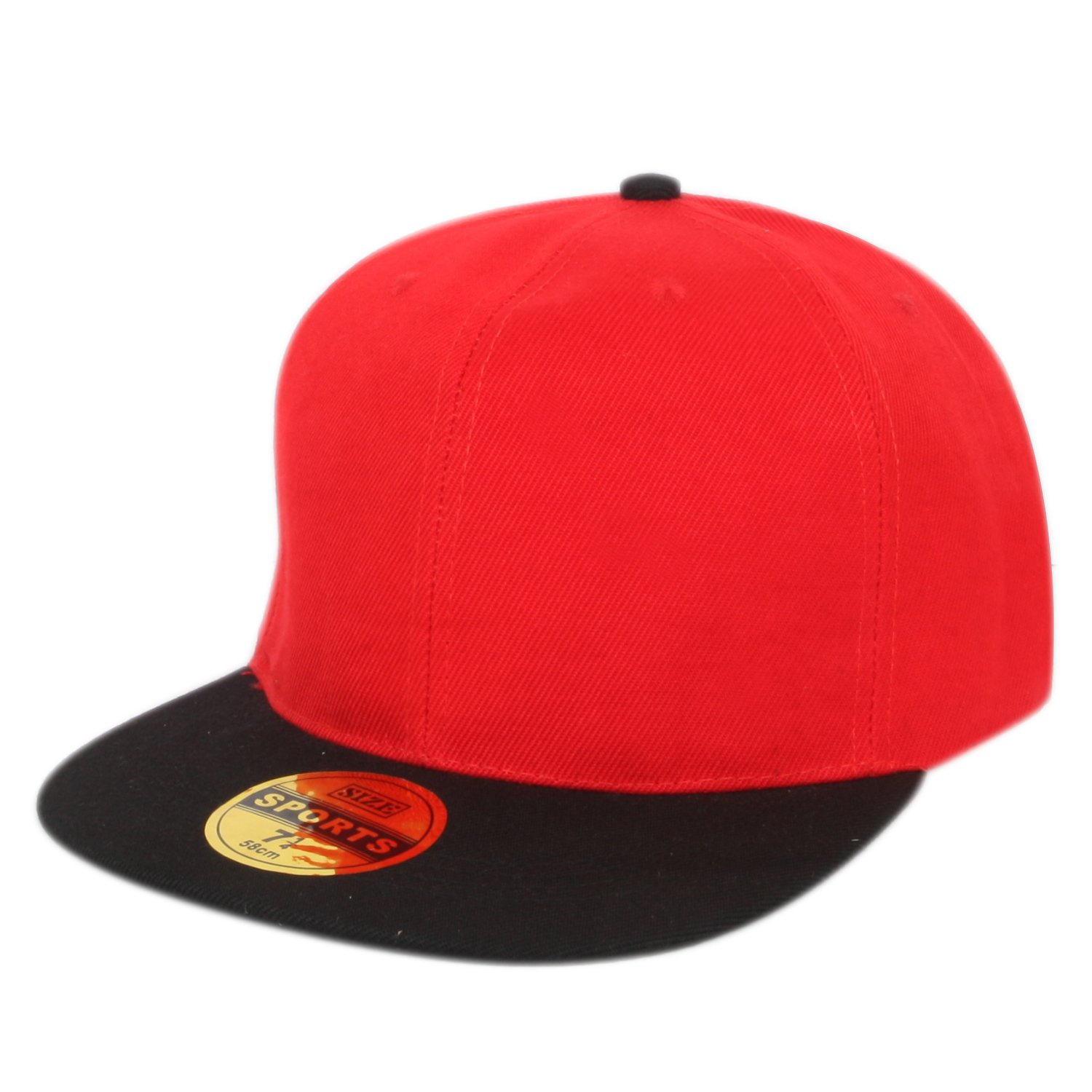 2e4940c551e ILU Unisex Cotton Snapback Hiphop Cap Red and Black Freesize  Amazon.in   Clothing   Accessories