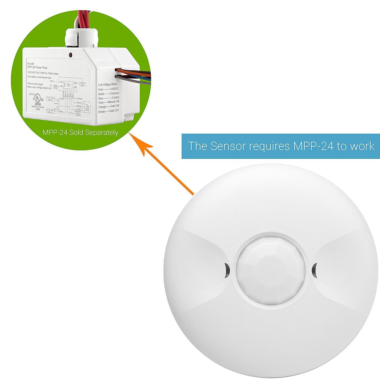 Enerlites Mpc 50l Ceiling Sensor Low Voltage By Pir Switch Motion Wiring Diagram Detector Occupancy