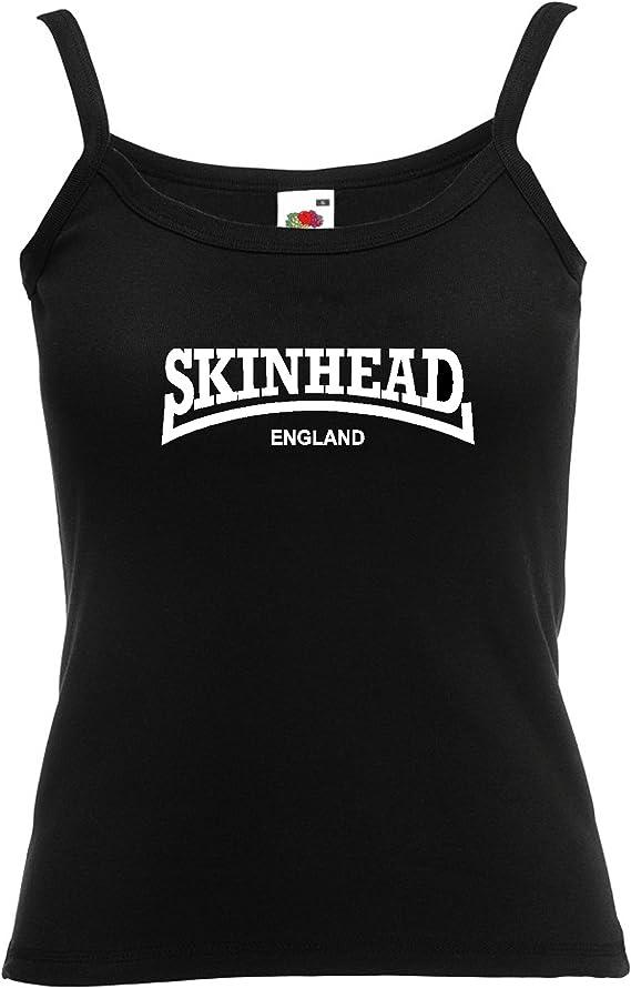 Juicy Ts Skinhead Inglaterra Girly Tiras Top Camiseta de Tirantes para Mujer T – Botas de Tirantes Whites Baby Blue: Amazon.es: Ropa y accesorios