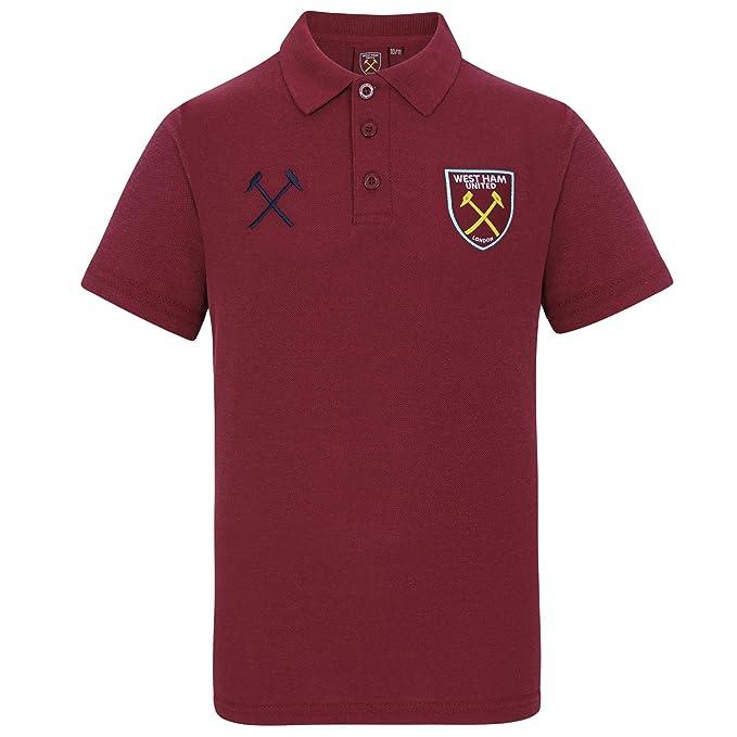 West Ham United FC Polo para Niños con Escudo - Producto Oficial ...