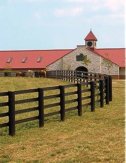 white flexible rail horse fence brown vinyl horse fence54 vinyl
