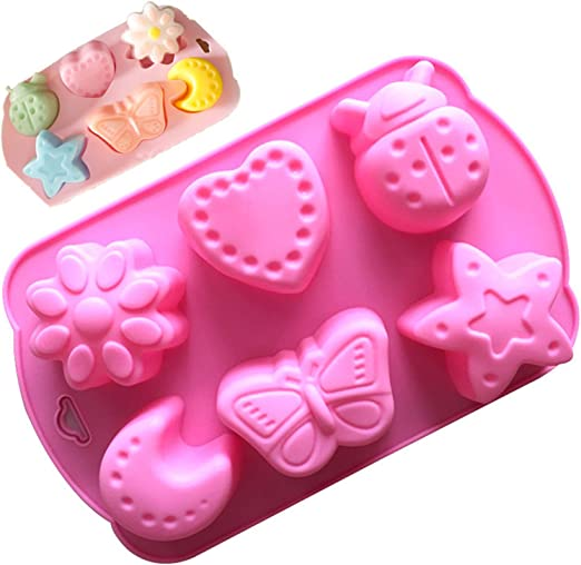 Baking Cake Fondant Tools Bear Moon Cute Polymer Clay Mould Chocolate Candy Soap Molds Bakeware Pudding Jelly Mould For Party