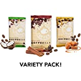 Eat Your Coffee Energy Bar, Variety Pack, Organic, Vegan, Gluten Free, 6 Count