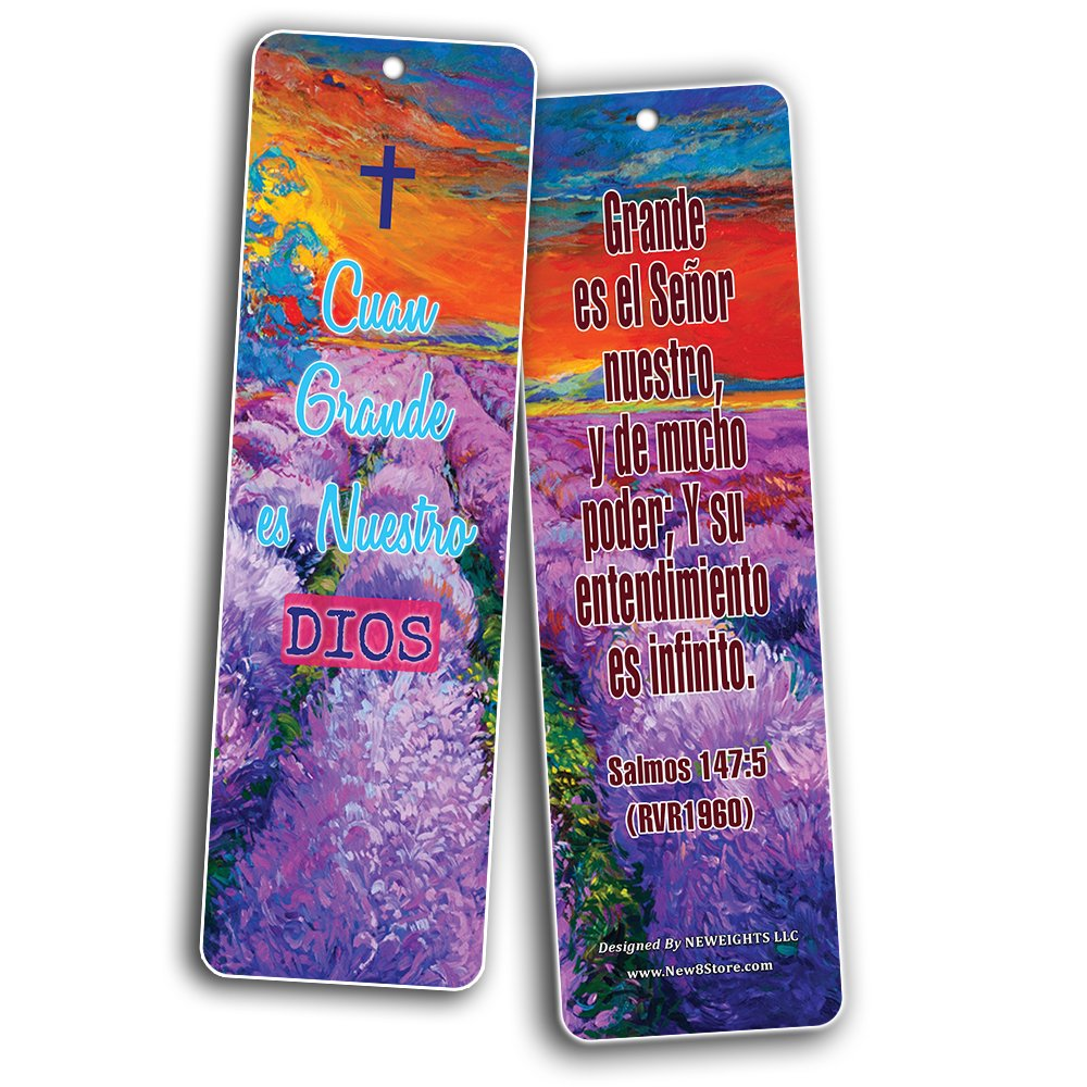 Spanish Favorite Bible Verses Bookmarks (60 Pack) - Bulk Collection & Gift with Inspirational, Motivational, Encouragement Messages by NewEights (Image #4)