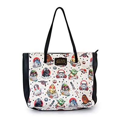 Amazon.com  Loungefly Star Wars Tattoo Flash Print Tote  Shoes 5270a0908b3a0