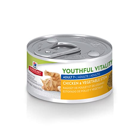 Hills Science Diet Wet Cat Food, Adult 7+, Youthful Vitality, Chicken &