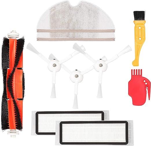 KEESIN Kit de accesorios de repuesto para XIAOMI MI Robot Aspirador, 2 filtros Hepa, 1 Cepillos principales, 3 Cepillos laterales, 2 fregonas, 1 juego de herramienta de limpieza: Amazon.es: Hogar