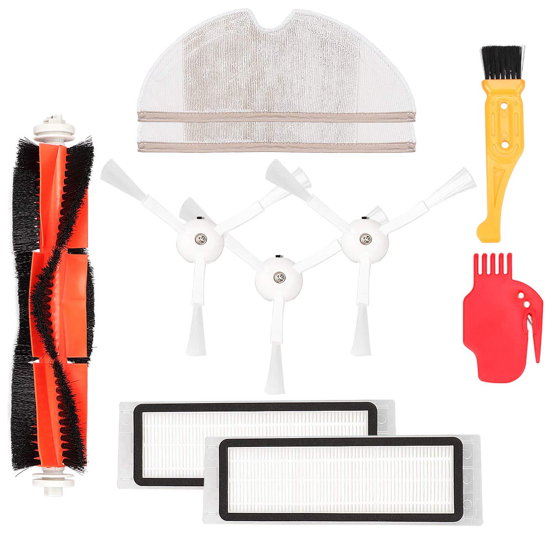 3 cepillos Laterales 2 fregonas 1 Juego de Herramientas de Limpieza 2 filtros Hepa KEESIN Kit de Accesorios de Repuesto para aspiradora Xiaomi Mi Robot 1 Cepillo Principal