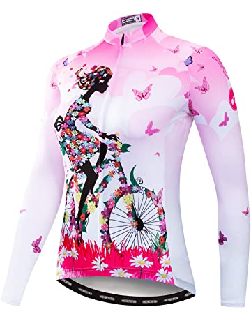 bf70201aa weimostar Cycling Jersey Women Mountain Bike jersey Shirts Long Sleeve Road Bicycle  Clothing MTB Tops Outdoor