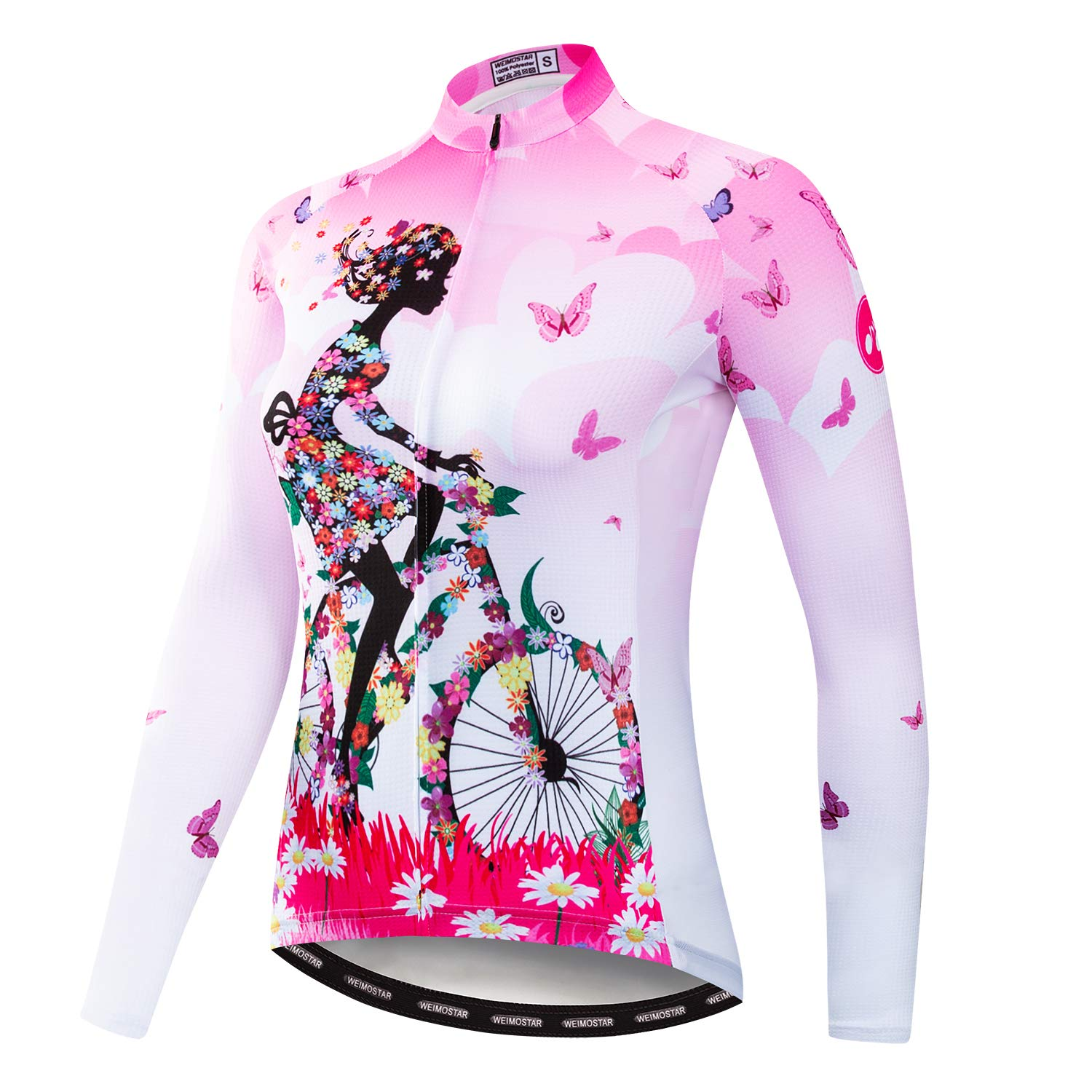Cycling Jersey for Women Long Sleeve Clothing Bicycle Jacket Redorange CXM-CF2000-LJ