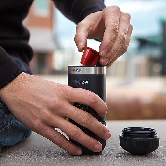 Wacaco Nanopresso NS Adaptador, accesorios para la máquina de café espresso portátil Nanopresso, compatible con cápsulas NS, ideal para viajar, ...