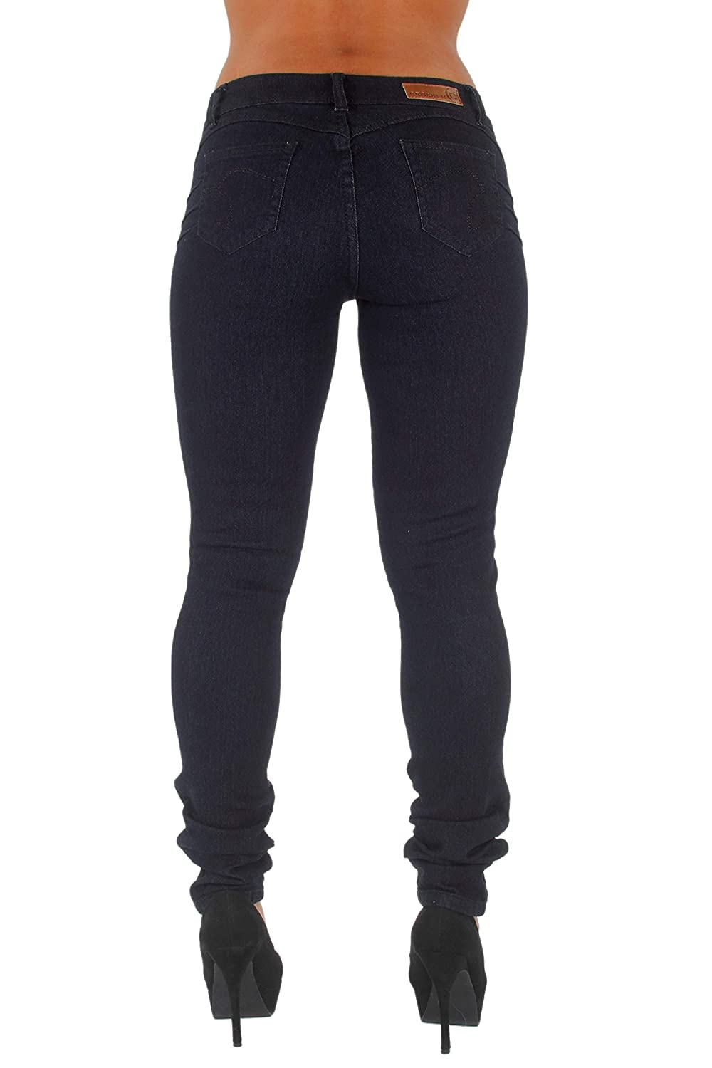 4db833cf6dff Junior/Plus Size Colombian Design, Butt Lift, Levanta Cola, Skinny Jeans  Black at Amazon Women's Jeans store
