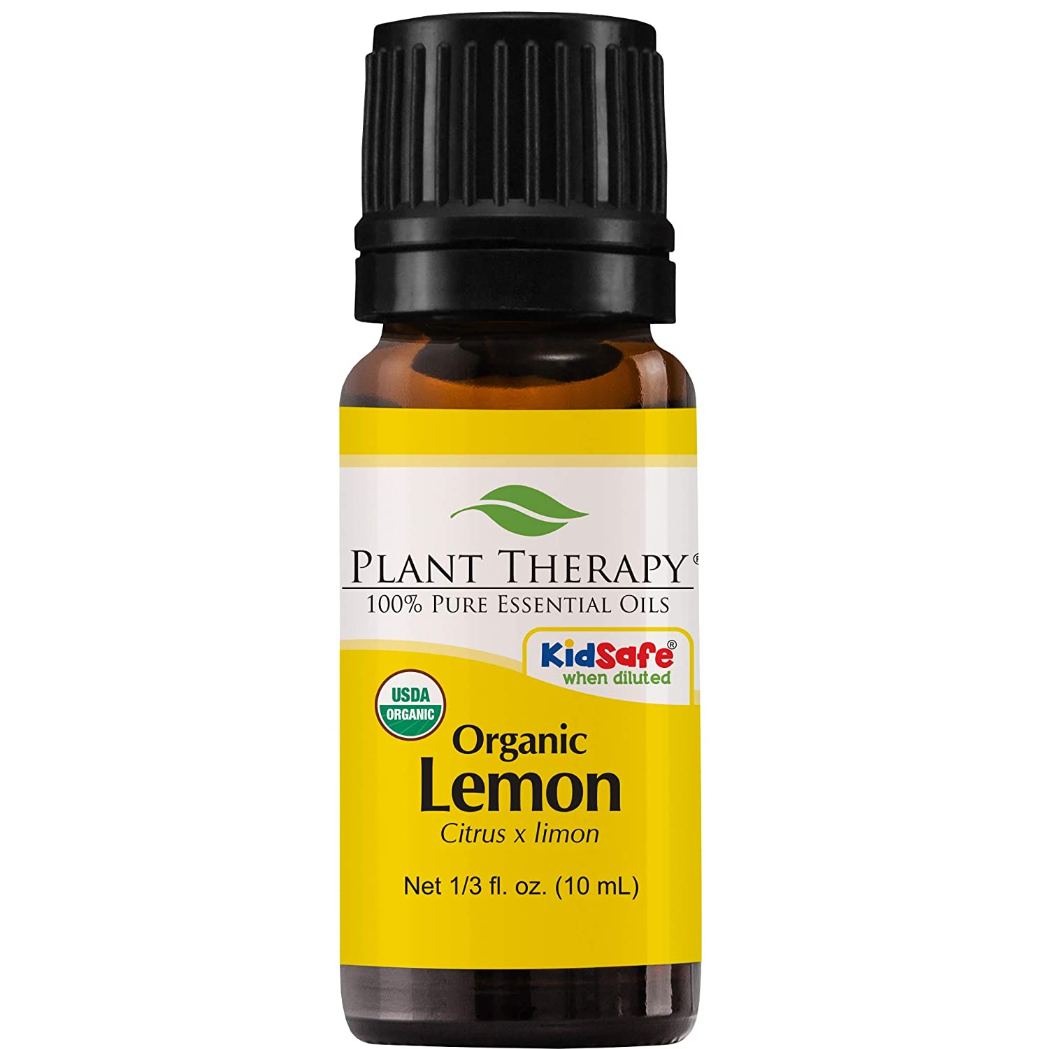 Plant Therapy Lemon Organic Essential Oil 100% Pure, USDA Certified Organic, Undiluted, Natural Aromatherapy, Therapeutic Grade 10 mL (1/3 oz)