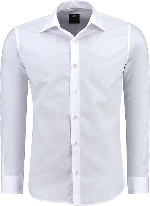 Allthemen Herren Business Hemd Slim Fit Bügelleicht Shirt