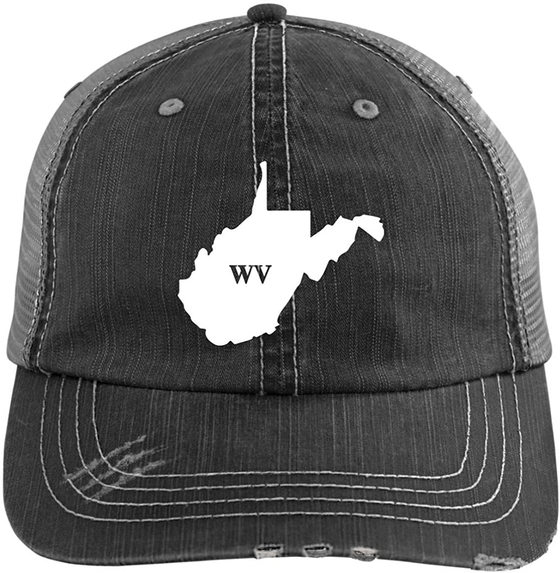 PipsyDesigns State of West Virginia Distressed Unisex Baseball Hat | Trucker | State Pride | Home | Wv
